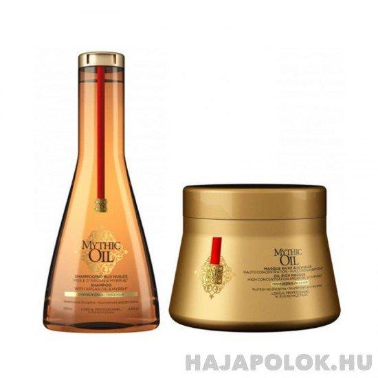 L'Oréal Professionnel Mythic Oil sampon+hajmaszk csomag vastagszálú hajra