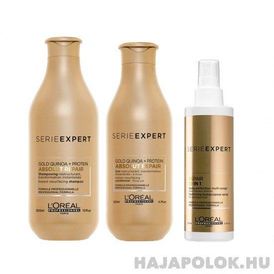 L'Oréal Professionnel Série Expert Absolut Repair Gold Quinoa+Protein három darabos csomag