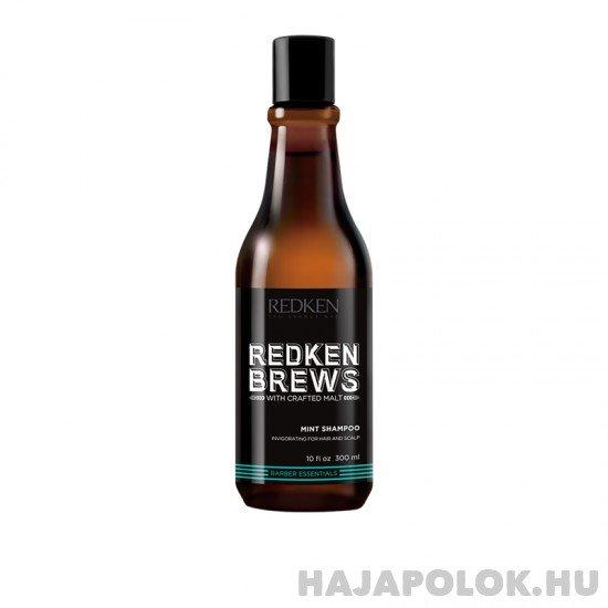 Redken Brews Mint élénkítő mentolos sampon férfiaknak 300 ml