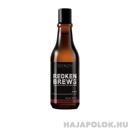 Redken Brews 3in1 sampon, kondicionáló és tusfürdő egyben férfiaknak 300 ml