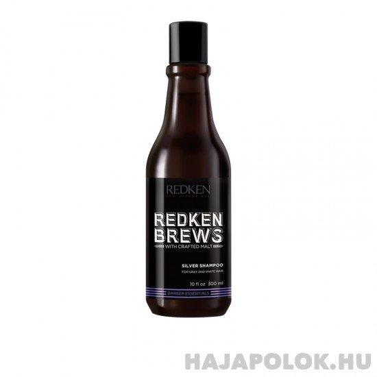 Redken Brews Silver sampon férfiaknak szőke és ősz hajra 300 ml
