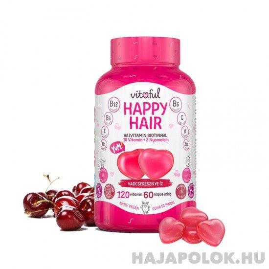 Vitaful Happy Hair rágható hajvitamin 2 havi adag (120 db)