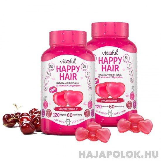 Vitaful Happy Hair rágható hajvitamin 4 havi adag (240 db)
