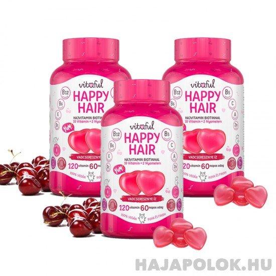 Vitaful Happy Hair rágható hajvitamin 6 havi adag (360 db)