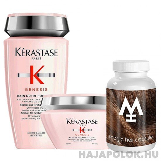 Kérastase Genesis sampon+hajmaszk és Magic Hair hajvitamin csomag