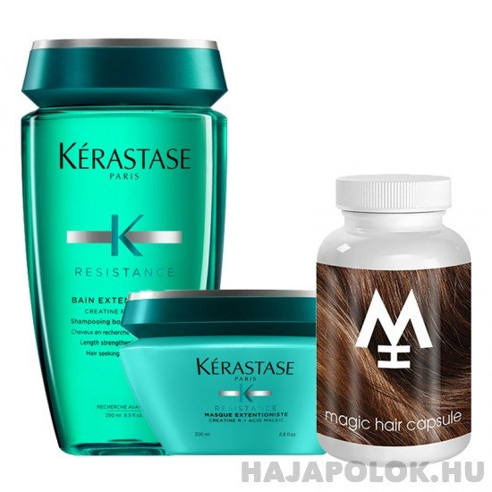Kérastase Résistance Extentioniste sampon+hajmaszk és Magic Hair hajvitamin csomag
