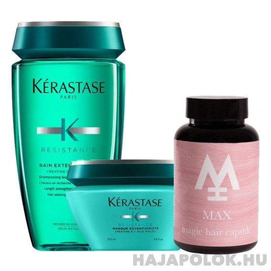 Kérastase Résistance Extentioniste sampon+hajmaszk és Magic Hair Max hajvitamin csomag