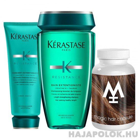 Kérastase Résistance Extentioniste sampon+kondícionáló és Magic Hair hajvitamin csomag