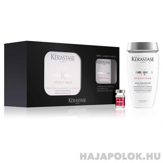 Kérastase Spécifique Aminexil Box hajhullás elleni kezelés 42x6 ml + Prevention sampon csomag ritkuló hajra