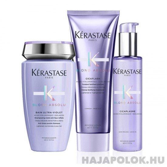 Kérastase Blond Absolu három darabos csomag Ultra-Violet samponnal