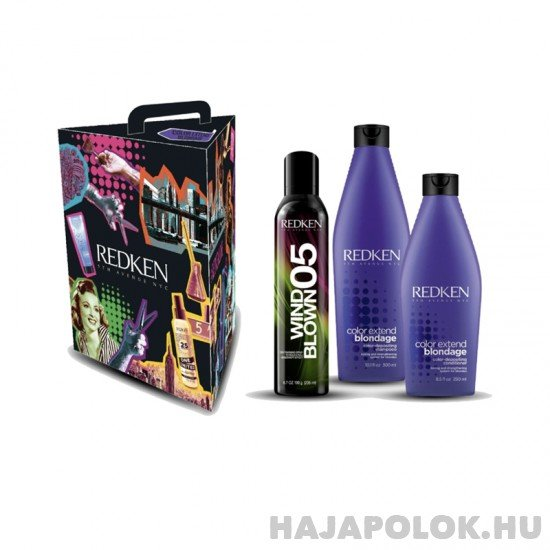 Redken Color Extend Blondage díszdobozos csomag Wind Blown spray-vel