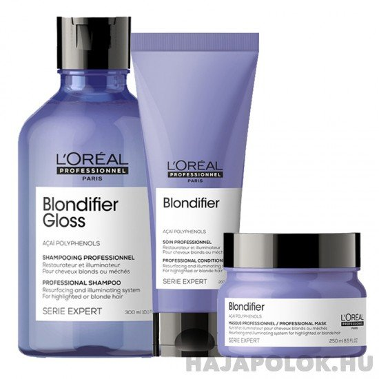 L'Oréal Professionnel Serie Expert Blondifier Gloss három darabos csomag szőke hajra