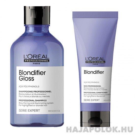 L'Oréal Professionnel Serie Expert Blondifier Gloss sampon+kondicionáló csomag szőke hajra