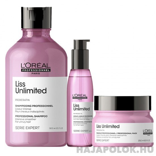 L'Oréal Professionnel Série Expert Liss Unlimited három darabos csomag