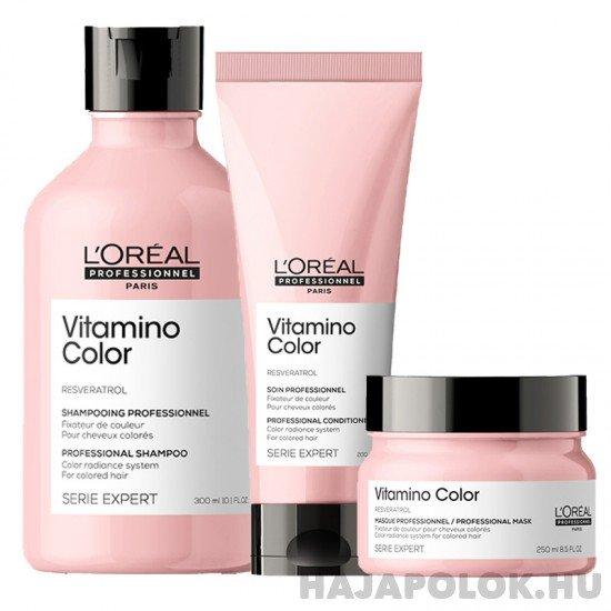L'Oréal Professionnel Série Expert Vitamino Color Resveratrol három darabos csomag kondicionálóval és hajmaszkkal
