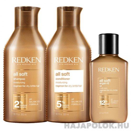 Redken All Soft három darabos csomag hajolajjal