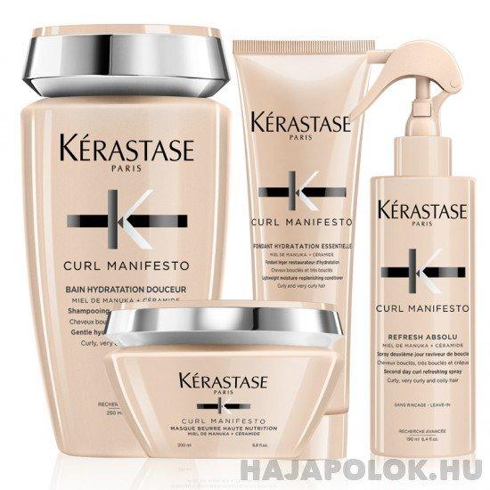 Kérastase Curl Manifesto négy darabos csomag spray-vel