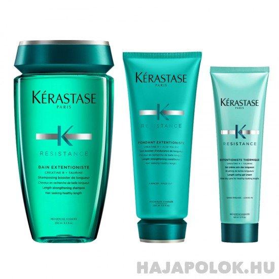 Kérastase Résistance Extentioniste három darabos csomag kondicionálóval és hővédővel